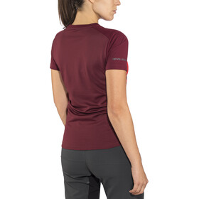 PEARL iZUMi Launch Shortsleeve Jersey Damen cayenne/port vista